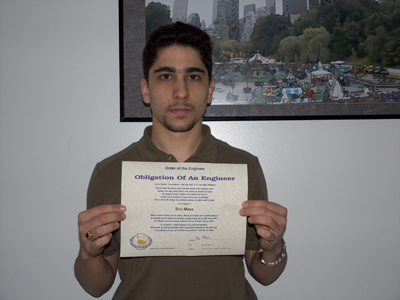 My Order of the Engineer Certificate
