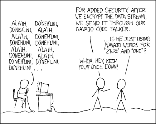 xkcd - code talkers