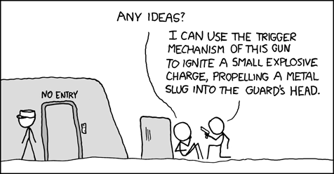 xkcd - MacGyver Gets Lazy